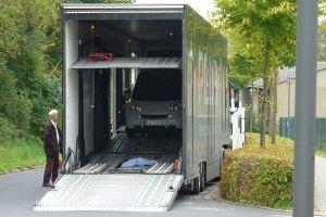 Die Anlieferung des Smart electric drive