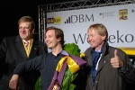 Mirko Hannemann (M.), Chef der Firma DBM Energy, hat den A2 pilotiert (Foto: Rudschies)
