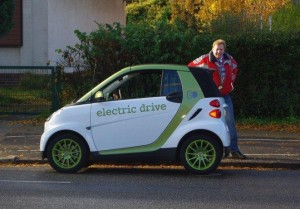Busfahrer Michael Bluhm testete den Smart ED in Hamburg (Foto: Bluhm)