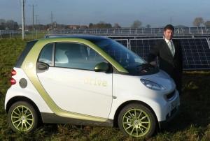 Bürgermeister Peter Felbermeier fuhr eine Woche lang Elektro-Smart