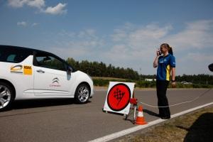 Rennparcours in Linthe. Die einzige Etappe, bei der es um gute Rundenzeiten geht auf der Eco-Drive-Challenge.