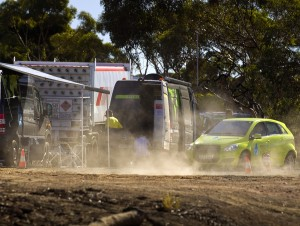Die mobile Wasserstoff-Tankstelle in Australien (Foto: Daimler)