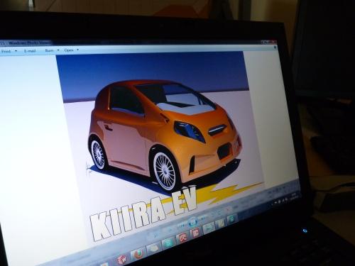 So wird es einmal aussehen: Ein Screenshot zeigt das erste afrikanische E-Auto. (Foto: Simone Schlindwein)