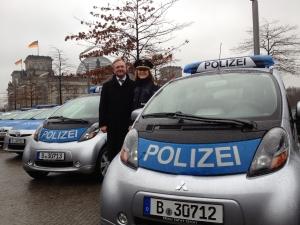 Die Berliner Polizei mit Elektroantrieb