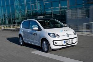 Der e-up! kommt als erstes vollelektrisches Fahrzeug von VW auf den Markt. Foto: Volkswagen Studie e-up!