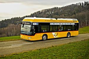 Wasserstoffbus im Testeinsatz
