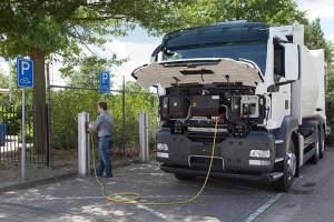 MAN Metropolis: erster Elektro-Lkw mit Pkw-Dieselmotor als Range Extender