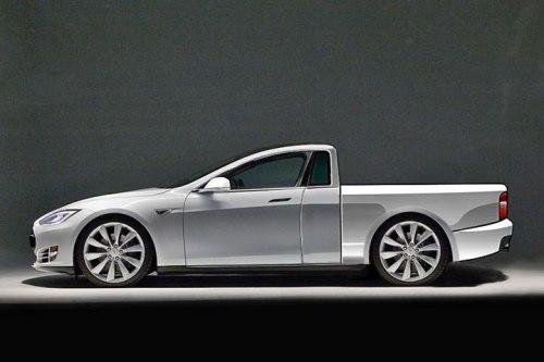 So könnte ein Tesla Pick-up auf Basis des Model S aussehen (Entwurf: Motorwelt/Joachim Flügel)