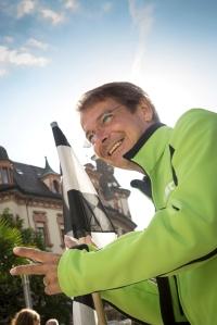 Gab den Startschuss: Thomas Kroher, Motorwelt Ressortleiter Test und Technik