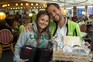 Tagessieger vom Dienstag: Matthias Bühler und Melanie Baltheiser.