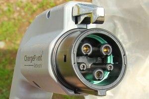 Das ist der Stecker Typ 1. Im Gebrauch bei  japanischen und amerikanischen Elektroautos. (Foto: Yazaki)