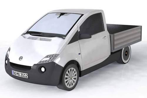 Leichtgewicht: Das BOmobil bringt nur 1.200 Kilo auf die Wage. Die Reichweite ist mit 150 Kilometern angegeben.