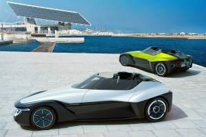 """Pfeilförmig, flach, wie eine Stromlinie geschnitten: Das radikal neue Elektroauto-Konzept """"Blade-Glider"""" von Nissan."""