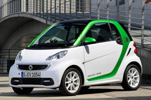 Knapp bemessen: der Smart fortwo Coupé electric drive.