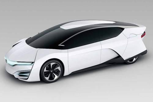 Aus der Studie FCEV Concept will Honda bis 2015 ein Serienmodell mit Wasserstoffantrieb entwickeln.