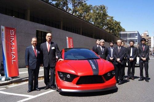 Kann die Technologie dieses Fahrzeugs die Reichweite von E-Autos entscheidend erhöhen? Der japanische SIM-HAL hat besonders effiziente Radnabenmotoren.
