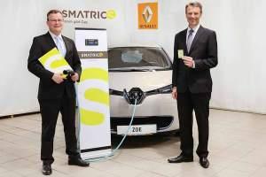 Kooperationspartner seit 1. Mai: Michael Viktor Fischer, Geschäftsführer von SMATRICS (li.) mit Uwe Hochgeschurtz, Generaldirektor von Renault Österreich