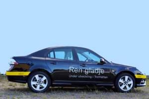 Sieht aus wie ein herkömmlicher Saab, hat aber einen elektrischen Antrieb: Prototyp Saab 9-3 EV.
