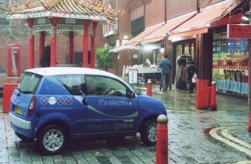 The Nicecar in London's Chinatown.