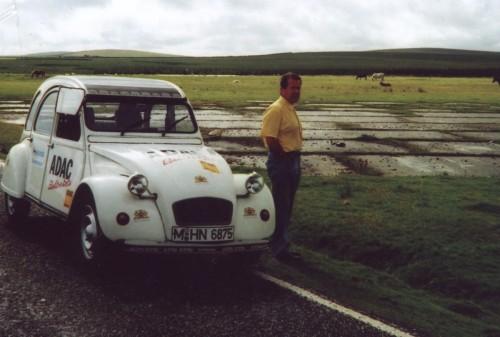 Mit der E-Ente durch Cornwall.