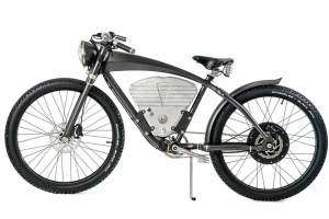 Schön anzusehen: Der E-Flyer erinnert an Motorräder der Vorkriegszeit