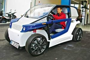 Leicht bekleidet: Der Streetscooter wiegt nicht einmal 500 Kilogramm. Foto: AUTO BILD/G. Lukas