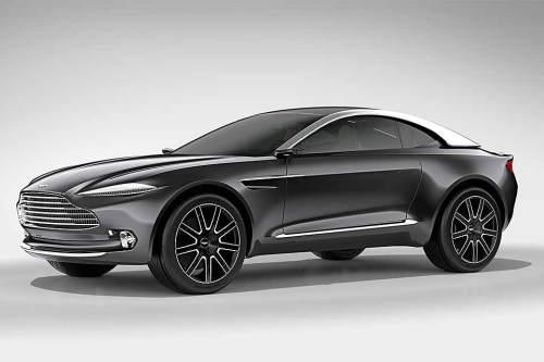 Sieht aus wie ein Tarnkappenbomber, fährt aber in einigen Jahren als Elektroauto auf den Straßen: Aston Martin DBX.