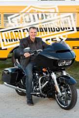 Dicke Verkleidung, breite Erscheinung, großer Benzinmotor: So sieht eine Harley-Davidson normalerweise aus.