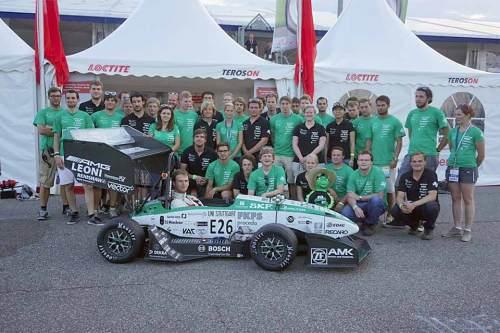 Die Studentenvereinigung Greenteam und ihr Prototyp: Vorerst Weltrekordler.