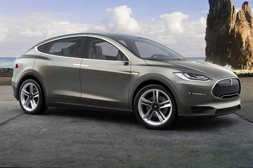 Serienmäßig verfügt der lang erwartete Elektro-SUV über Flügeltüren am Heck.