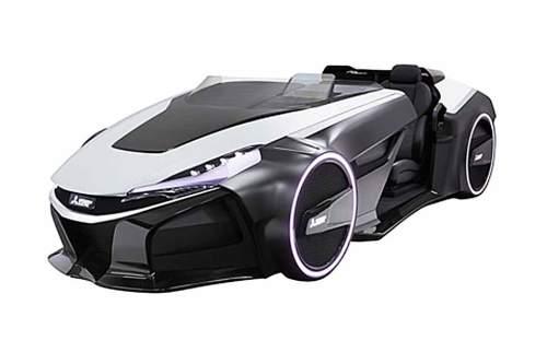Das Elektroauto der Zukunft: Der Mitsubishi Emirai 3 xDAS wird auf der Tokyo Motor Show präsentiert.