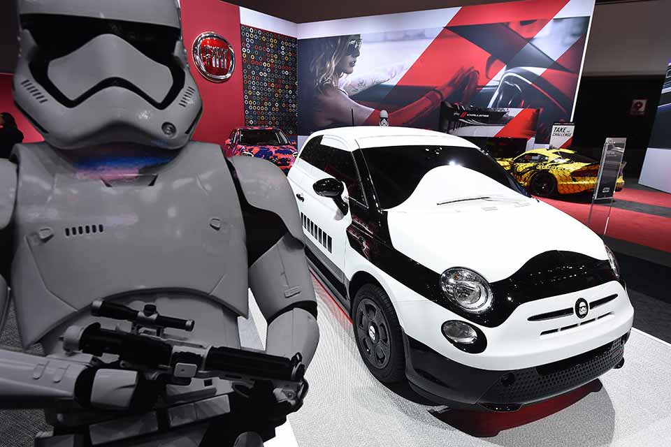 star wars elektro fiat in los angeles das elektrische. Black Bedroom Furniture Sets. Home Design Ideas
