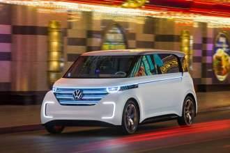 Futuristisches Elektroauto in Las Vegas: Budd-e von VW.