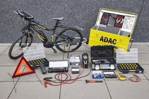 Unser E-Bike für die Pannenhilfe verfügt über die fast identische Ausstattung wie das Pannenhilfe-Pkw.