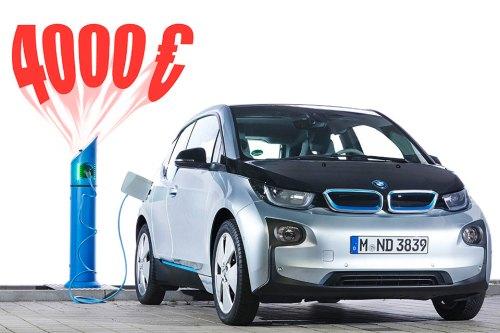 Ab Mai werden reine Elektroautos mit 4000 Euro Kaufprämie subventioniert, für Hybrid-Modelle gibt es 3000 Euro.