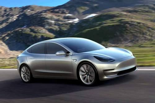 So sieht das lang erwartete Model 3 von Tesla aus.