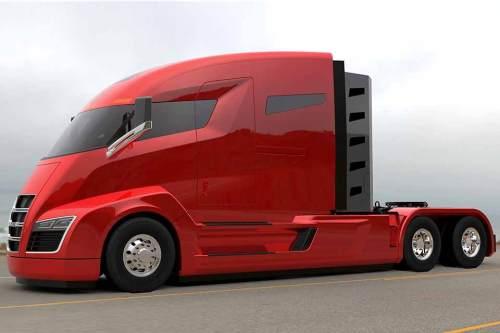 Schnittige Linie, Allradantrieb an sechs Rädern: Der E-Truck Nikola One.