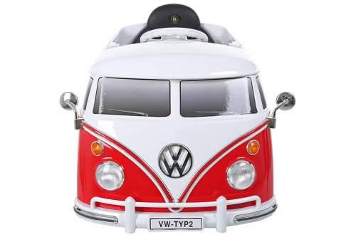 Kinderfahrzeug im populären Retro-Stil des VW Bulli.