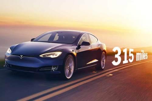 Reichweitenwunder Tesla Model S: Bis zu 507 km mit einer Batterieladung.