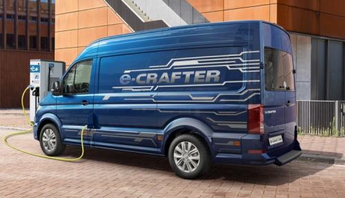 Der E-Crafter von VW soll Lieferdienste ohne Emissionen im urbanen Bereich ermöglichen.